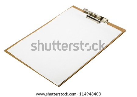 Close-up of a clipboard - stock photo