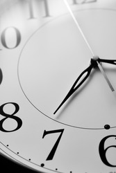 Close up of a clock isolated