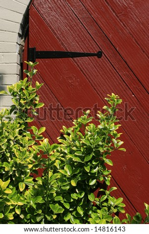 Close up of a closed gate, door in a private community or house