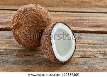close up of a coconut