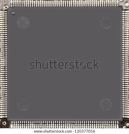 Close up of a computer Chip - stock photo