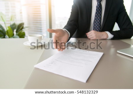 Close up of a contract proposing to sign, full and accurate details, individual who owns the business sign personally, director of the company, solicitor, look into before jot down signature #548132329