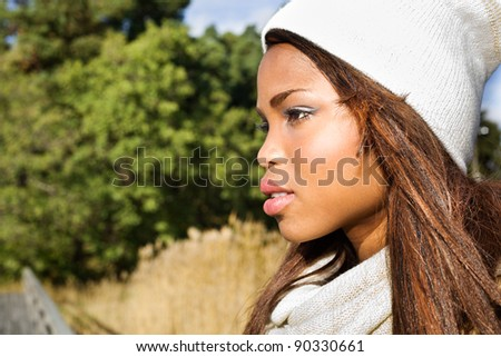 Close-up of a cute african american woman