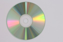 close-up of a data disc as DVD and Blue Ray CD