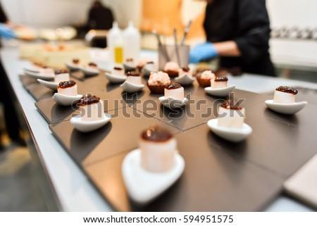 Shutterstock Close-up of a delicious molecular gastronomy dessert in a restaurant environment. Food gourmet. Molecular gastronomy.