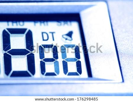 Close up of a Digital timer