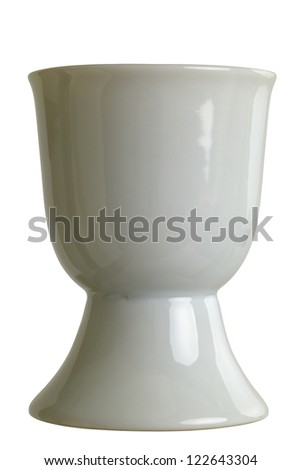 Close up of a eggcup, isolated on white background,  DFF image