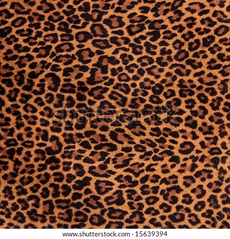 Close-up of a fabric with leopard spots pattern
