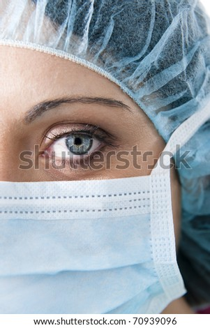 Close-up of a Female surgeon