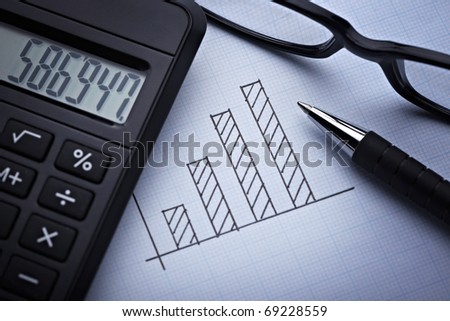 close up of a finance graph on an office desk