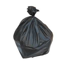 Close up of a garbage bags or Rubbish bag isolated on white background