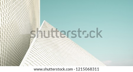 Close up of a geometric structure roof fragments . Abstract architecture background . #1215068311