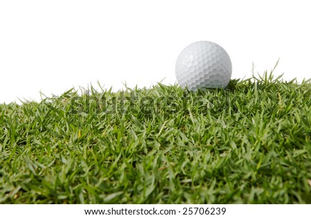 close up of a golf ball on grass
