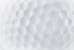 CLose up of a Golf Ball texture by macro lence and special tube