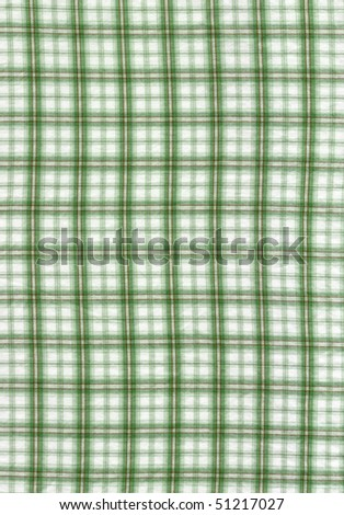 Close-up of a green checked cloth for background
