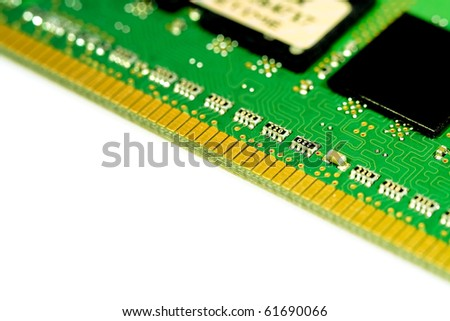 Close up of a green circuit board