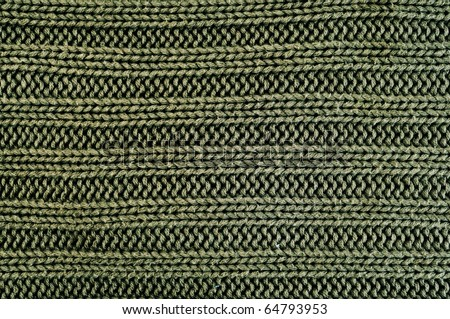 close up of a green knitted fabric