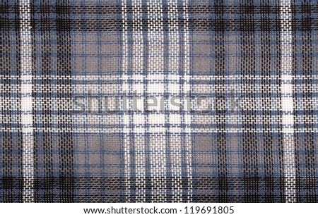 Close-up of a grey checked cloth