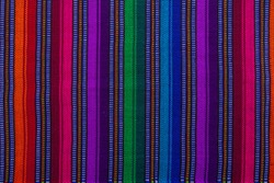 Close up of a guatemalan handmade textile in Antigua