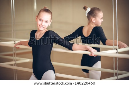 Close up of a happy biracial child dancer