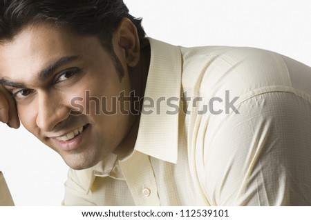 Close-up of a happy man