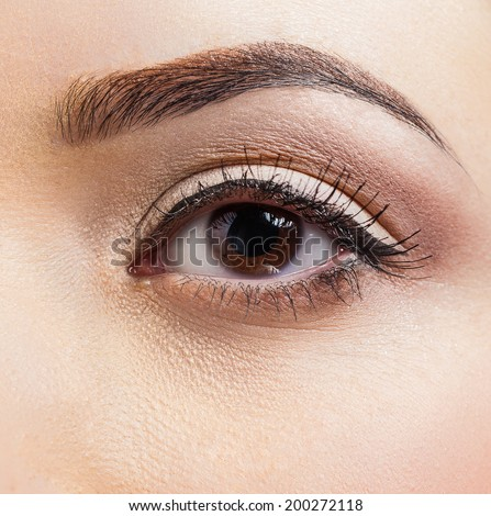 close-up of a healthy female eye - Shutterstock ID 200272118