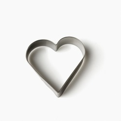 Close-up of a heart shaped pastry cutter