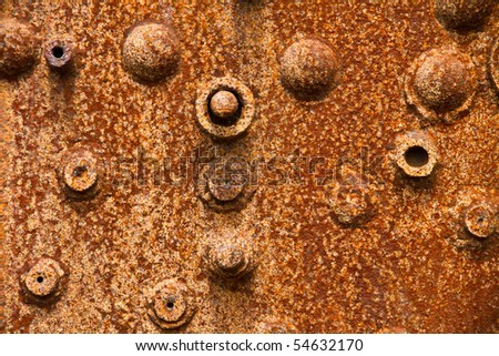 Close up of a heavily corroded steam boiler