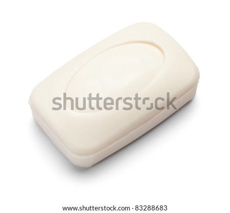 close up of  a hygiene soap on white background with clipping path