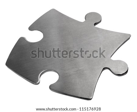 Close-up of a jigsaw puzzle piece