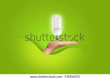 close up of a light bulb on hand