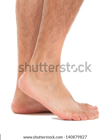 Close up of a man's feet
