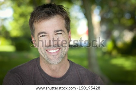 Close-up of a man smiling #150195428