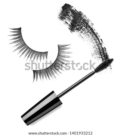 close up of a mascara on white background