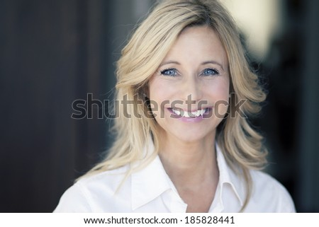 Close up Of A Mature Woman Smiling