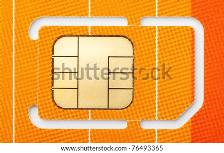 Close-up of a mobile phone sim card