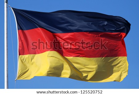 Close-up of a national flag of Germany