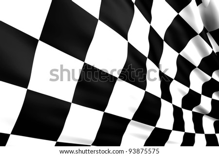Close up of a nice checkered flag