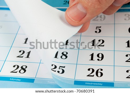 close up of a page of a calendar