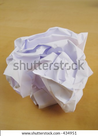 Close-up of a paper wad
