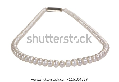 Close-up of a pearl necklace