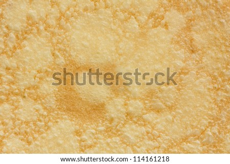Close up of a perfectly cooked pancake. Background.