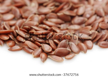 Close up of a pile of flaxseed