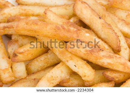 Close up of a pile of fries/chips