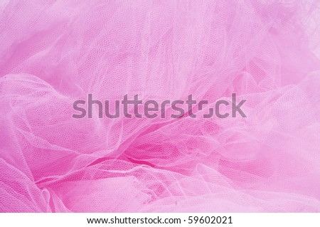 close up of a pink tulle fabric