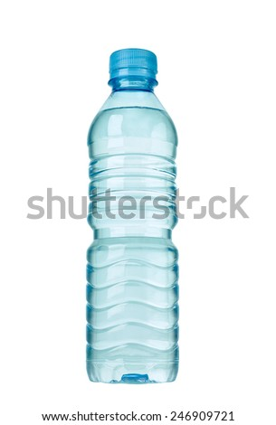 close up of  a plastic bottle on white background #246909721