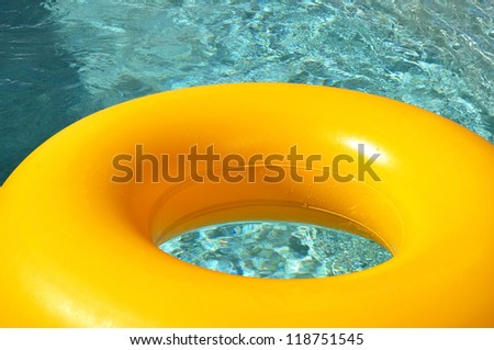 Close up of a pool ring