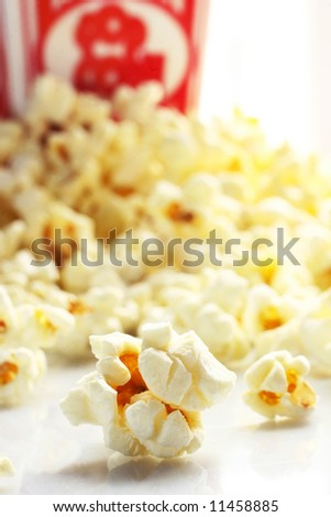 Close up of a pop corn - stock photo