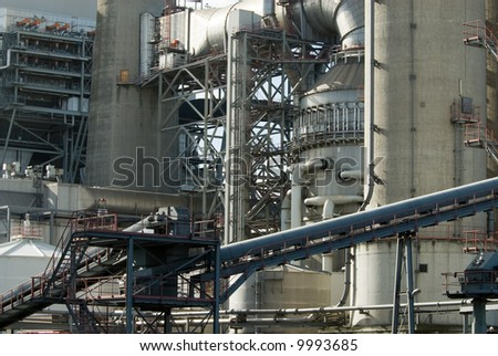 close-up of a power plant