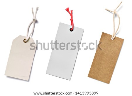 close up of  a price label note on white background #1413993899